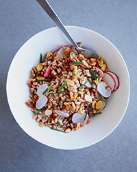 Double-Nutty Farro with Radishes