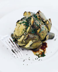 Falsone's Roasted Artichoke-Stuffed Artichokes Recipe
