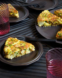 Cauliflower, Bacon, and Parmesan Frittata
