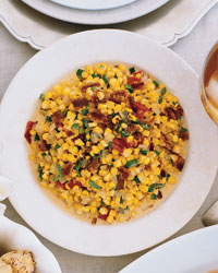 Roasted Corn and Pepper Maque Choux