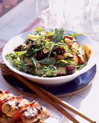 Summer Fruit Salad with Arugula and Almonds