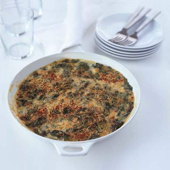 Creamy Spinach with Smoked Gouda Gratin