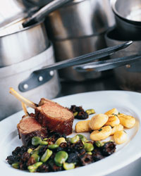 Siegel's Lamb Chops with Fava Beans and Potato Gnocchi