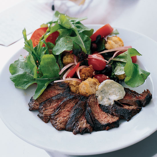 Goin's Grilled Steak with Tomato Bread Salad