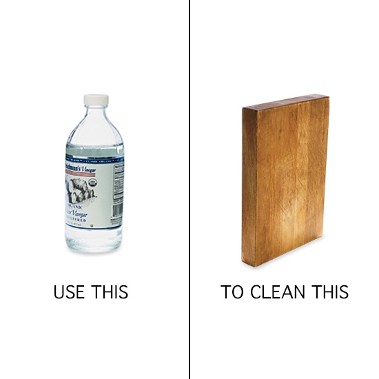 disinfect cutting boards with vinegar.
