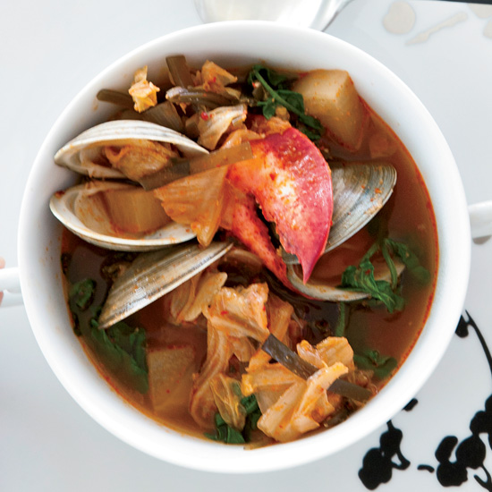 Lobster, Clam and Kimchi Stew