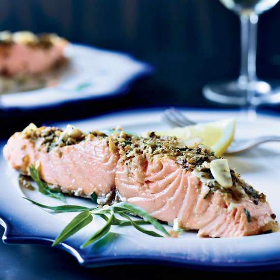 Slow-Roasted Salmon with Tarragon and Citrus