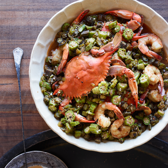 Leah Chase's Okra Gumbo with Blue Crabs and Shrimp