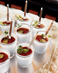Cool Grilled-Vegetable Gazpacho for Hot Weather