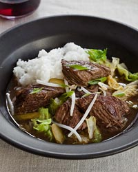 Slow-Cooker Korean Beef Stew with Napa Cabbage and Pickles