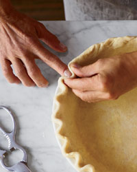 Traditional Fluting for Pie Crust