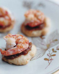 Flat Breads with Shrimp and Romesco Sauce
